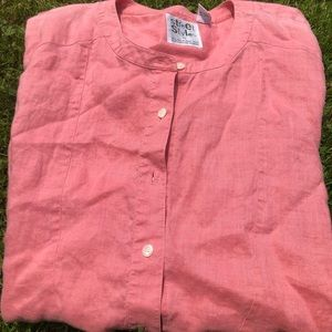 Long pink grandad collar Liz Claiborne shirt!